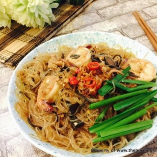 Glass Noodles (Tang Hoon) with Dried Cuttlefish Recipe
