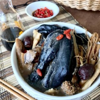 Double Boiled Black Chicken Herbal Soup Recipe