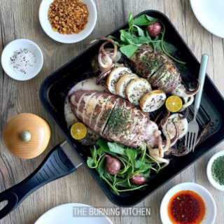 Tender Steam-Grilled Stuffed Squid