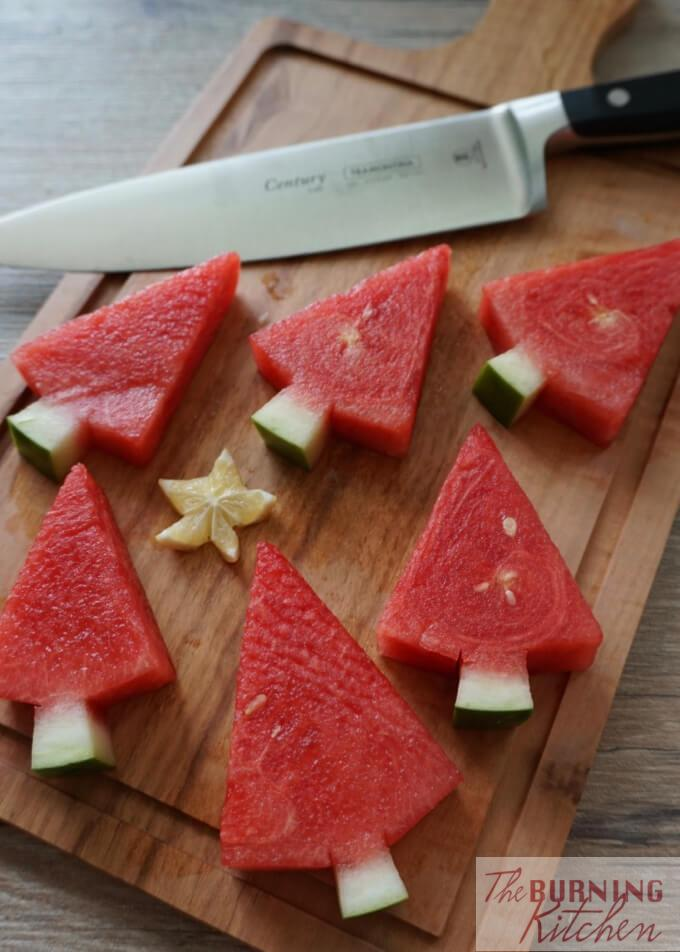 These Watermelon Christmas Trees are so easy to do and will add loads of festive cheer to the upcoming joyous Christmas season when we celebrate God's love and gift of new life to people all over the world!