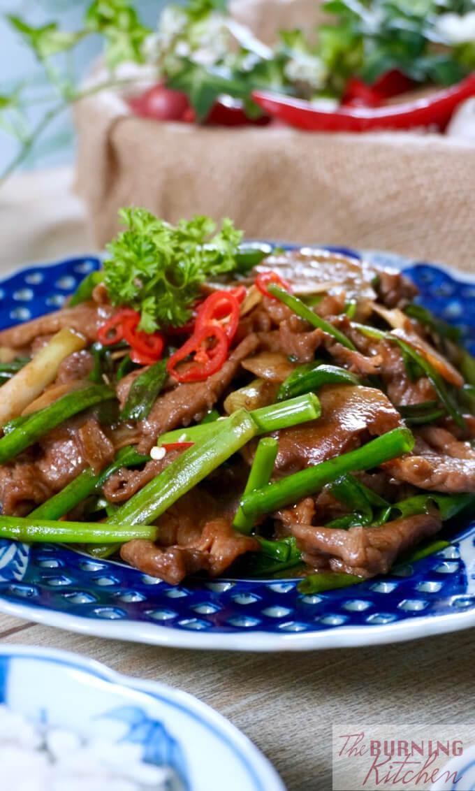 Beef with Ginger and Spring Onions