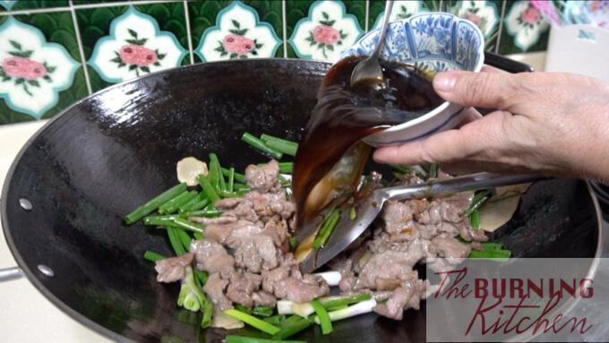 Beef with Ginger and Spring Onions - Steps