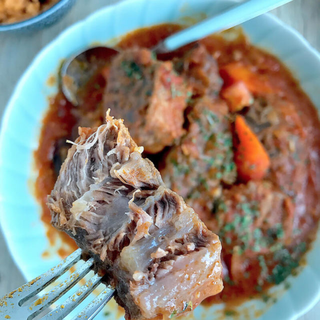 Home-style Mexican Rice with Slow-Cooked Beef Shank Stew