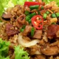 Cantonese_Cabbage_Mushroom_Lup_Cheong_Rice_Recipe_And_Step_By_Step_Photo_Tutorial