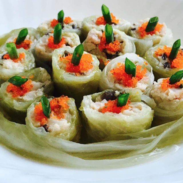 Dim Sum Steamed Cabbage Roll with Minced Pork: If you love Dim Sum and are a bit of a health nut, you will love these adorable mini cabbage rolls masquerading as Dim Sum, giving a new interpretation to a nostalgic childhood food.