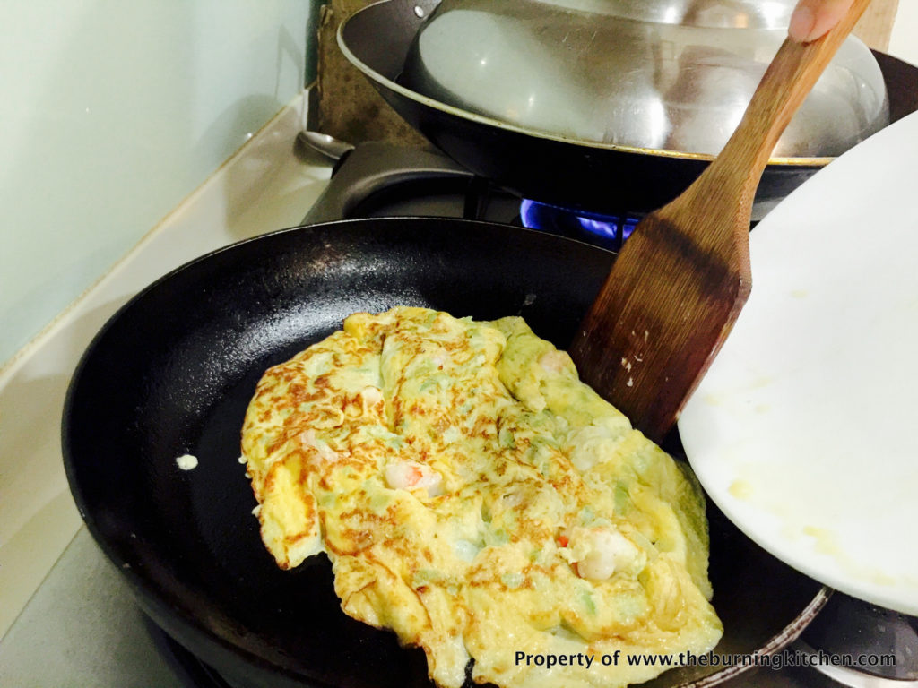 Prawn_Omelette_With_Loofah_Recipe