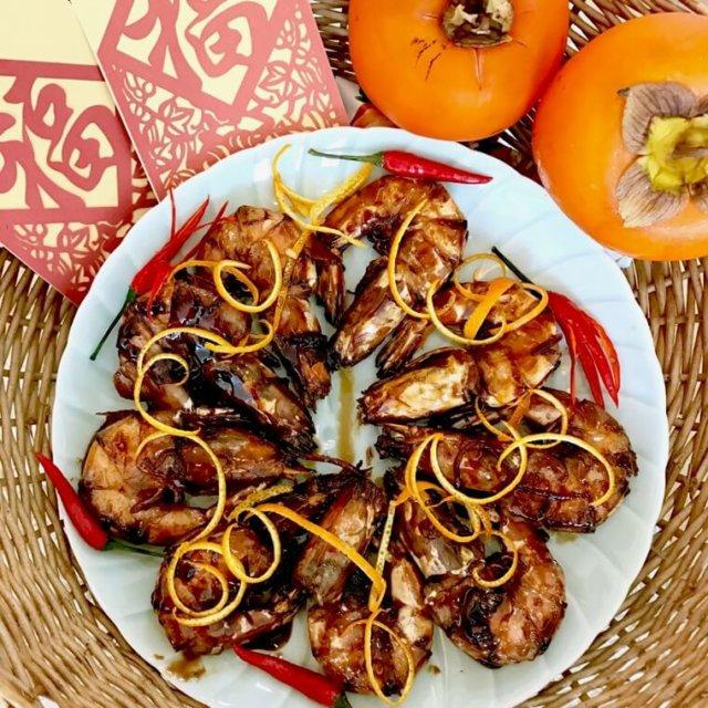 Cantonese Stir-fried Prawns in Orange Sauce (Har Lok) Recipe