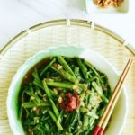 Spicy Water Spinach (Sambal Kangkong): The aromatic spicy sambal sauce used to fry this vegetable is made from chilli, dried shrimp and shallots, and packs a punch when it comes to flavour! A definite MUST-TRY if you love spicy Chinese food!