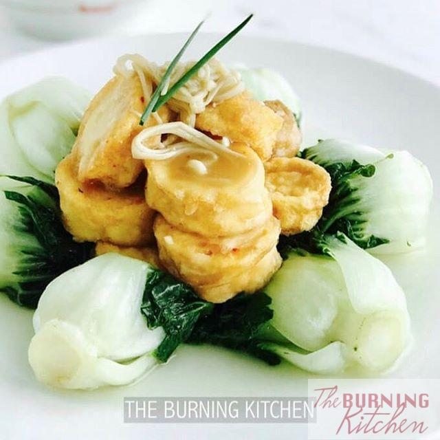 Egg Tofu with Nai Bai Milk Cabbage   hellip