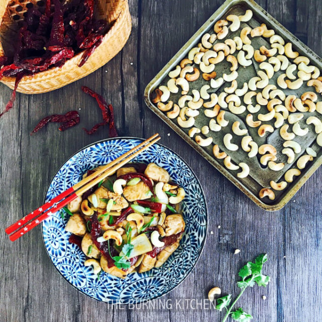 Kung Pao Chicken with Toasted Cashews: This Szechuan classic is well-loved around the world for its sweet, sour and sweat-inducing-spicy-but-oh-so-good mix of flavours! Pair it with oven-toasted heart-healthy cashews for that extra crunch in every bite. Super yummy!