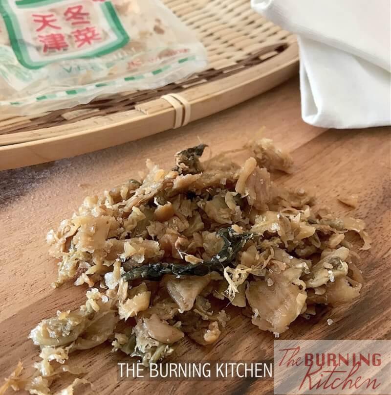 冬菜also known as Tianjin preserved vegetable or Tung Choy