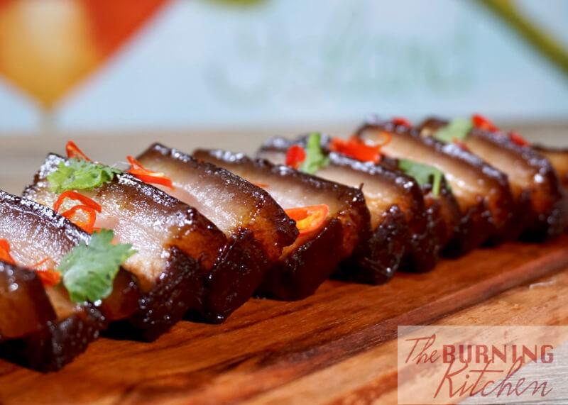 Assam Braised Pork Belly: Tender melt-in-your mouth braised pork belly in a tart and slightly sweet assam (tamarind) sauce. Only needs 15 minutes active time and 3 key ingredients (plus common condiments you already have in your kitchen). An unfussy and simple homestyle dish but tastes oh so good!